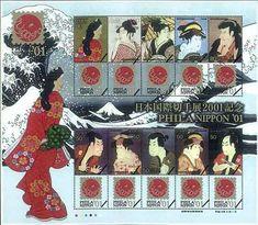 international stamp sheet
