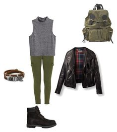 """""""Untitled #75"""" by keiiiii ❤ liked on Polyvore featuring Mother, Burberry, Timberland, H&M and BillyTheTree"""