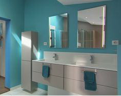 Awesome Salle De Bain Turquoise Et Taupe Pictures - House Design ...