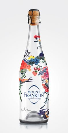Mount Franklin Lightly Sparkling is alimited edition Bird Garden Design by Akira Isogawa.