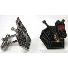 Doctor Who K-9 Cufflinks. To go with the TARDIS tie I asked Santa for.