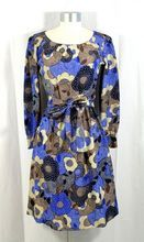 Vintage 1970s Givenchy Nouvelle Boutique Psychedelic Floral Silk Dress at rubylane.com