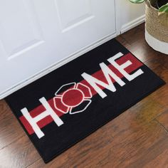 Firefighter Support welcome home door mat is approximately 2 ft. x 3 ft. Support firefighters personal indoor doormat represents all workers in the fire deparment. This firefighter welcome home mat is a perfect retirement gift for firefighters. Firefighter Home Decor, Firefighter Family, Firefighter Wedding, Firefighter Gifts, Volunteer Firefighter, Firefighters Wife, Firemen, Firefighter Paramedic, Firefighter Quotes