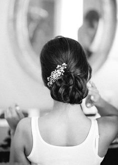 Bride's Updo // Mi Belle Photographers