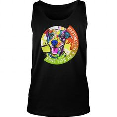 I Love  Happiness is a pit bull smile Love Pitbull Tshirts Love Pitbull shirts Love Pit bull Shirts T-Shirts