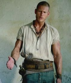 Tom Hopper and his amazing arms, from Episode 2 of Black Sails