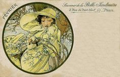 Mucha -February, La Belle Jardiniere, by mpt.1607, via Flickr