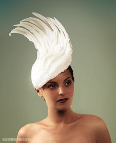 30s style feather #wedding hat.  REALLY?