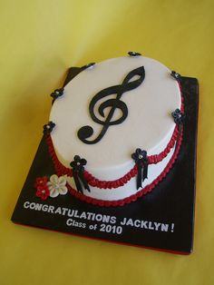 Musical Graduation Cake