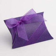 100 x Purple Pillow Wedding Favour Boxes: Amazon.co.uk