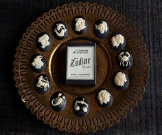 Zodiac Lip Balm Locket Necklace - Victorian Gold Brass Astrology- Choose Your Flavor- Vanilla Strawberry Mint Peach by TheParlorApothecary on Etsy https://www.etsy.com/uk/listing/178563858/zodiac-lip-balm-locket-necklace