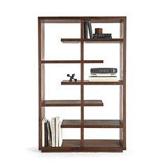 "Elevate Walnut 68"" Bookcase   Crate and Barrel"