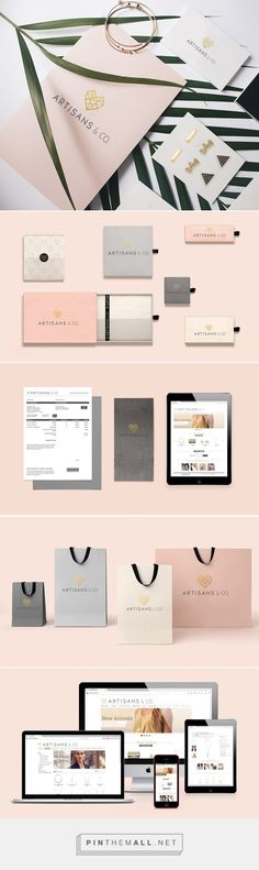 Artisan & Co. Jewelry Branding by Michelle Lopes Jewelry Branding, Jewelry Logo, Jewelry Packaging, Brand Packaging, Packaging Design, Luxury Packaging, Jewelry Design, Corporate Design, Brand Identity Design