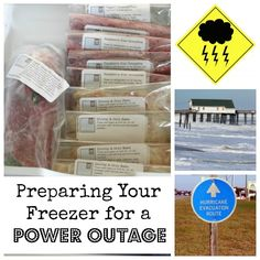 Preparing your freezer for a power outage.