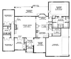 master suite plans | Master Suite with Privacy (HWBDO13392) | New American House Plan ...