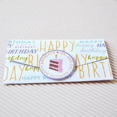 DIY Birthday Graffiti Gift Card Holders Digital by LaReveuseDesign
