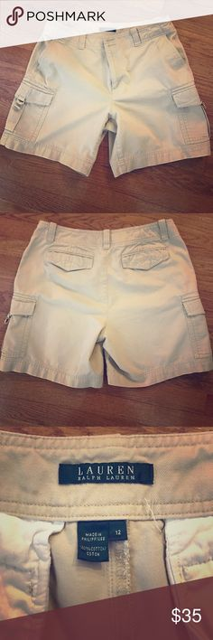 Ralph Lauren Cargo Shorts Beige Ralph Lauren cargo shorts in great condition! Only worn a few times! Price is negotiable Polo by Ralph Lauren Shorts Cargo