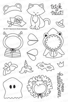 Newton's Nook Designs NEWTON'S COSTUME PARTY Clear Stamp Set NN1709S03 Preview Image