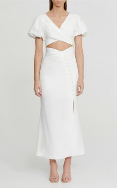 Going Out Outfits, Satin Dresses, Gowns, Classy Outfits, Just In Case, White Dress, White Midi Skirt, Dress Up, Dress Casual