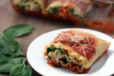 {vegetarian} Spinach Tofu Lasagna Rolls | doughseedough.net