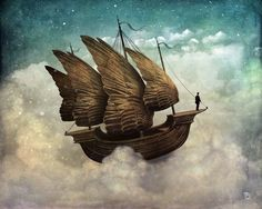 surreal scenes by Christian Schloe feature bizarre moments that draw viewers out of a concrete reality and into a dreamy, fictional world