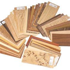 Wood Identification Kit, Veneer Sample Pack 50-piece Item #15W12 $39.99