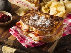 A tasty sandwich stacked with ham, turkey and Swiss cheese.  Serve with kettle cooked potato chips to complement.
