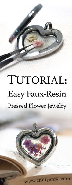 This dried flower jewelry tutorial will teach you how to create a beautiful pressed flower pendant with the look of resin without the hassle. If you want to learn how to make pressed flower jewelry, read on!