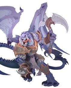 style fantasy, hard fiction. A dragon man dude