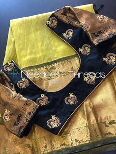 Wedding Saree Blouse Designs, Pattu Saree Blouse Designs, Blouse Designs Silk, Designer Blouse Patterns, Simple Blouse Designs, Stylish Blouse Design, Maggam Work Designs, Amazing, Maggam Works