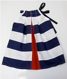 Tutorial: Peek-a-Boo Stripes dress for little girls