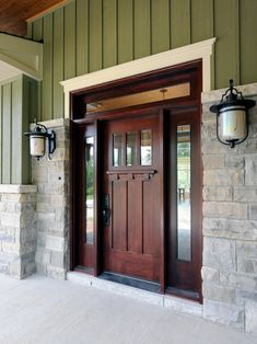 LOVE this front door and stone idea