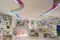 Librería Kids Republic en Beijing 1. Cool kids library