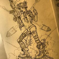 regram @leilaleiz She is back ! !!! #Tankgirl #sketch #comicbooks #comics #artistofinstagram #art #drawing #guns #tattoos_of_instagram #tattoogirl #pencildrawing #art #illustration #pencildrawing
