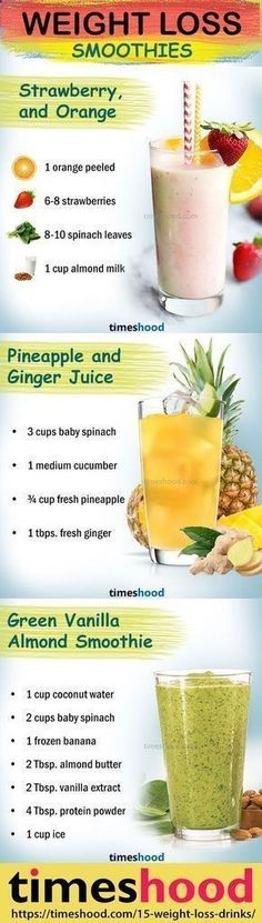 Healthy smoothie recipes for weight loss. Drink to lose weight. Weight loss smoothie recipes. Fat burning smoothies for fast weight loss. Check out 15 effective weight loss Drinks/Detox/Juice/Smoothies that works fast. timeshood.com/... #weightlossdrinks