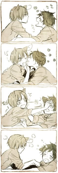 Tags: Anime, Humor, Embarrassed, Inumimi, Axis Powers: Hetalia, Spain, Fangs
