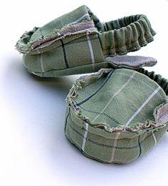 Baby shoe sewing pattern PDF frayed loafer moccasin bootie slipper beach sandal tutorial easy newborn boy girl diy shower gift epattern. $6.00, via Etsy.
