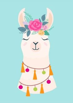 Illustration about Vector illustration of cute cartoon llama with flowers. Stylish drawing for birthday cards, party invitations, poster and postcard. Illustration of greeting, cute, character - 120317200 Alpacas, Images Lama, Llama Pictures, Cute Cartoon Pictures, Cute Images, Cartoon Llama, Llama Drawing, Llama Arts, Llama Birthday