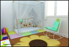 Decorating an Autistic Child's Bedroom Montessori Bedroom, Montessori Baby, Playroom Paint Colors, Big Girl Bedrooms, Flooring Options, Kid Beds, Baby Decor, Kids House, Baby Room