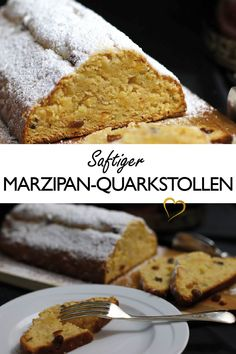 saftig Cake juicy The stollen is juicy and has a wonderful taste due to the marzipan and the pickled fruit Xmas Food, Christmas Baking, Stollen Recipe, Quark Recipes, Sweet Cakes, Savoury Dishes, No Bake Cake, Cupcake Cakes, Sweet Tooth