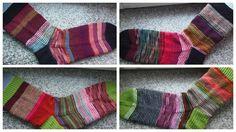 Lankaterapiaa: Jämälankaterapiaa - Scrap yarn socks