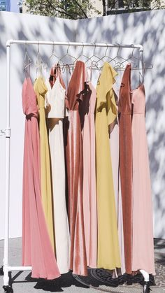 Simply stunning hues of rust red, pink and yellow! Jenny Yoo Collection  Bridesmaids, featuring high halter neck details, vintage inspired soft  stretch velvet, shirred soft tulle, crepe boat necks, and sultry and  sexy spaghetti strap dresses with deep v-necklines! Jenny Yoo Collection  features unique, modern short and long bridal party styles that are  perfect for a fall, winter, spring or summer wedding but would  also be great for any occasion / prom ! Vera Wang Wedding, Summer Wedding Cakes, Spaghetti Strap Dresses, Lace Applique, Party Fashion, Red And Pink, Bridal Gowns, Vintage Inspired, Lace Dress