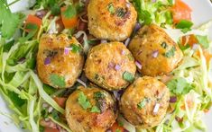 It's fiesta time with these fish taco balls over pico de gallo slaw. This reinvented fish taco recipe is paleo and Whole30 compliant, served over a base of pico-inspired shredded cabbage. A healthy, p