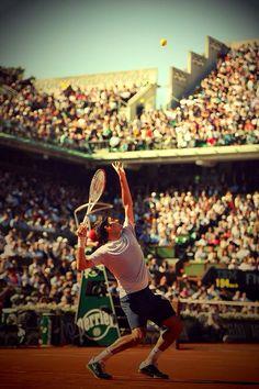 Roger Federer at Roland Garros