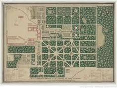 Probablemente sea el plano más antiguo que se conserva de los jardines. Plano de los jardines de la Granja (Segovia, Spain) 1725. Biblioteca Nacional de Francia