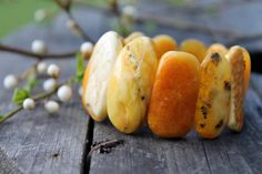 Yellow Baltic Amber Bracelet Natural Amber by DreamsFactory, $340.00