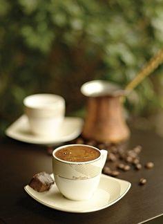 Greek Coffee with a chocolate Fresh Coffee, I Love Coffee, Black Coffee, Coffee Break, My Coffee, Morning Coffee, Coffee Angel, Brown Coffee, Arabic Coffee