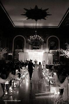 wedding ceremony candle illuminates!