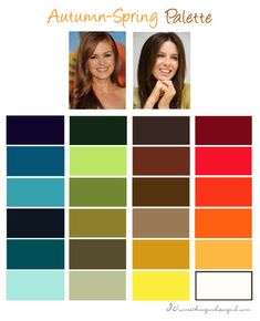 Warm Autumn color palette - Sister Palette to Warm Spring - Can wear brightest of this palette or darker, when tan.