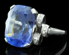 Sapphire and diamond engagement ring from Dublin Jewellers set in platinum